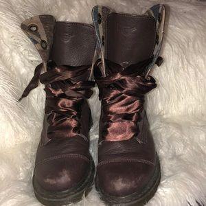 Burgundy Doc Marten boots